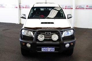 2014 Toyota Hilux KUN26R MY14 SR5 (4x4) Glacier White 5 Speed Manual Dual Cab Pick-up