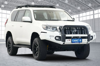 2019 Toyota Landcruiser Prado GDJ150R GXL Pearl White 6 Speed Sports Automatic Wagon.