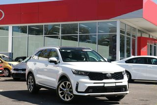 2021 Kia Sorento MQ4 MY21 GT-Line Snow White Pearl 8 Speed Sports Automatic Wagon.