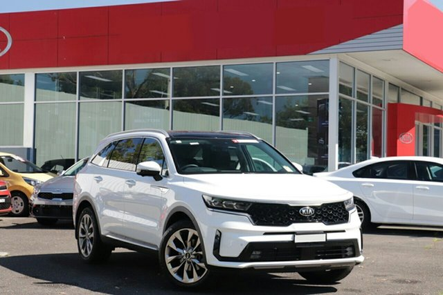 New Kia Sorento MQ4 MY21 GT-Line 7 Seat Swan Hill, 2021 Kia Sorento MQ4 MY21 GT-Line 7 Seat Clear White 8 Speed Auto Sports-Matic Wagon