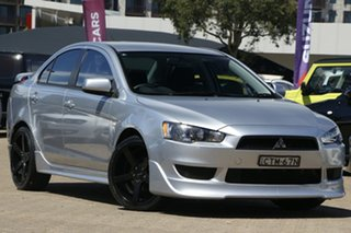 2013 Mitsubishi Lancer CJ MY14 ES Silver 5 Speed Manual Sedan.