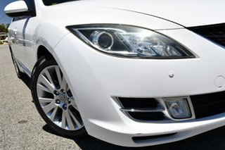 2010 Mazda 6 GH1051 MY09 Classic White 5 Speed Sports Automatic Hatchback.