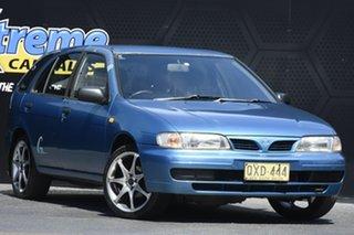 1997 Nissan Pulsar N15 Q Blue 5 Speed Manual Hatchback.