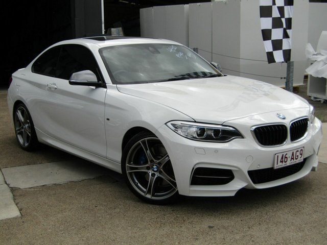 Used BMW 2 Series F22 M240I Moorooka, 2016 BMW 2 Series F22 M240I White 8 Speed Sports Automatic Coupe