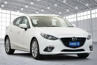 2014 Mazda 3 BM5438 SP25 SKYACTIV-Drive GT Pearl White 6 Speed Sports Automatic Hatchback.
