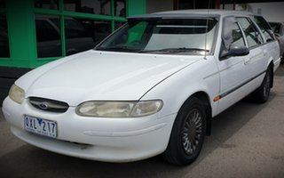 1997 Ford Falcon EL GLi White 4 Speed Automatic Wagon.