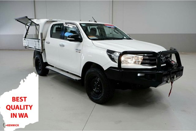 Used Toyota Hilux GUN126R SR Double Cab Kenwick, 2017 Toyota Hilux GUN126R SR Double Cab White 6 Speed Sports Automatic Cab Chassis