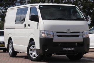 2016 Toyota HiAce KDH201R Crewvan LWB White 4 Speed Automatic Van Wagon.