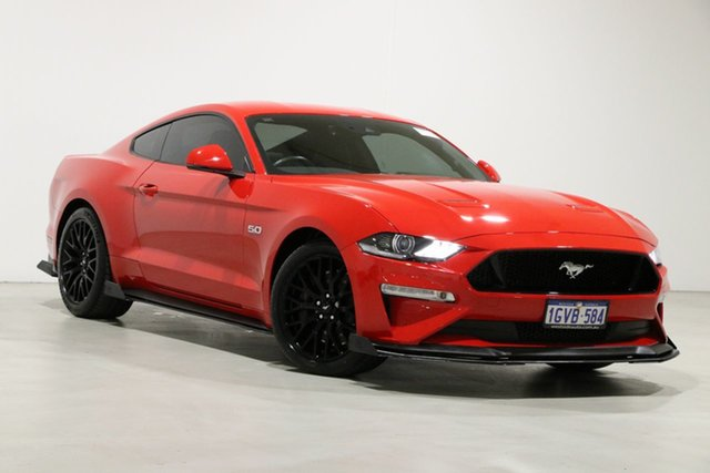Used Ford Mustang FN Fastback GT 5.0 V8 Bentley, 2018 Ford Mustang FN Fastback GT 5.0 V8 Red 10 Speed Automatic Coupe