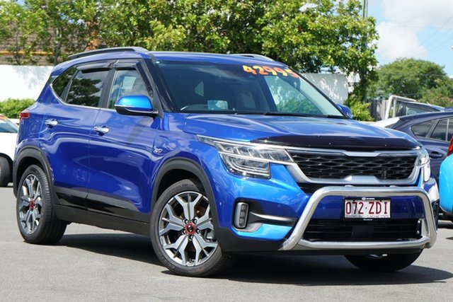 Used Kia Seltos SP2 MY20 GT-Line DCT AWD Mount Gravatt, 2019 Kia Seltos SP2 MY20 GT-Line DCT AWD Neptune Blue 7 Speed Sports Automatic Dual Clutch Wagon