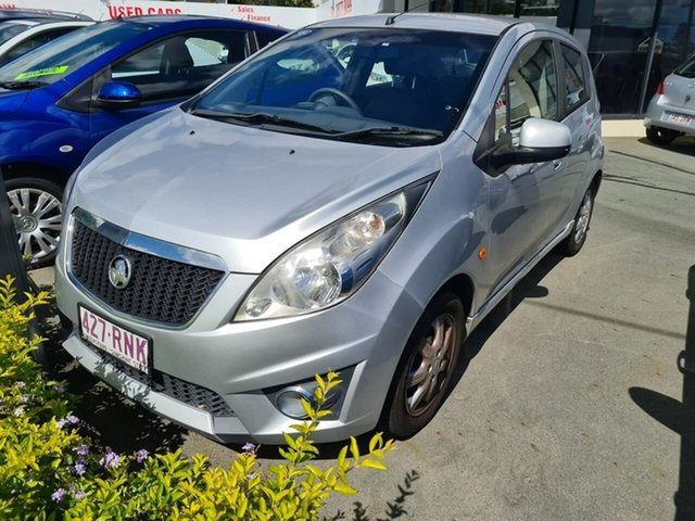 Used Holden Barina Spark MJ MY11 CD Mount Gravatt, 2011 Holden Barina Spark MJ MY11 CD Silver 5 Speed Manual Hatchback