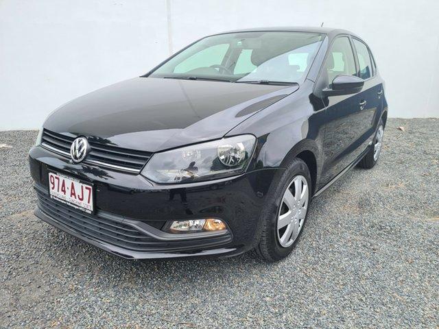 Used Volkswagen Polo 6R MY15 66TSI DSG Trendline North Rockhampton, 2015 Volkswagen Polo 6R MY15 66TSI DSG Trendline Deep Black Pearl Effect 7 Speed