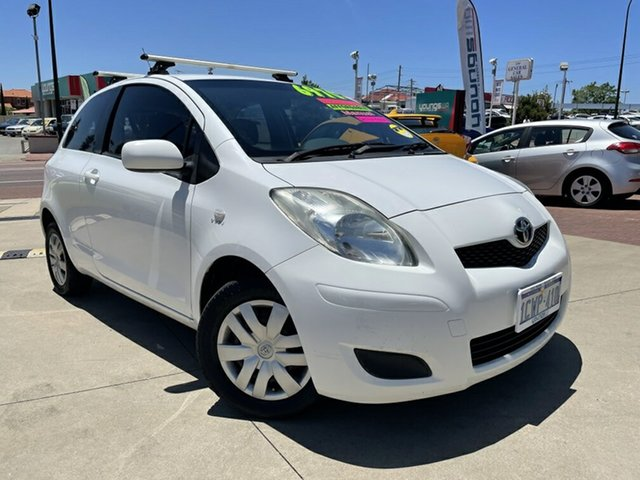 Used Toyota Yaris NCP90R 08 Upgrade YR Victoria Park, 2010 Toyota Yaris NCP90R 08 Upgrade YR White 5 Speed Manual Hatchback
