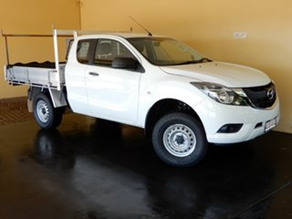 2015 Mazda BT-50 MY16 XT (4x4) White 6 Speed Automatic Freestyle Cab Chassis.