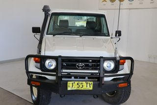 2003 Toyota Landcruiser HZJ79R White 5 Speed Manual Cab Chassis