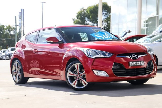 Used Hyundai Veloster FS Coupe Kirrawee, 2011 Hyundai Veloster FS Coupe Red 6 Speed Manual Hatchback