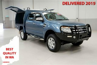 2014 Ford Ranger PX XLT Double Cab Blue 6 Speed Manual Utility.