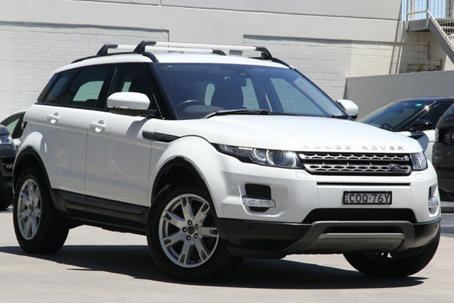 Used Land Rover Range Rover Evoque L538 MY13 TD4 CommandShift Pure Brookvale, 2013 Land Rover Range Rover Evoque L538 MY13 TD4 CommandShift Pure Fuji White 6 Speed