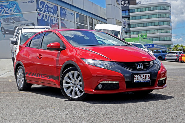 Used Honda Civic 9th Gen MY13 VTi-L Springwood, 2013 Honda Civic 9th Gen MY13 VTi-L Red 5 Speed Sports Automatic Hatchback