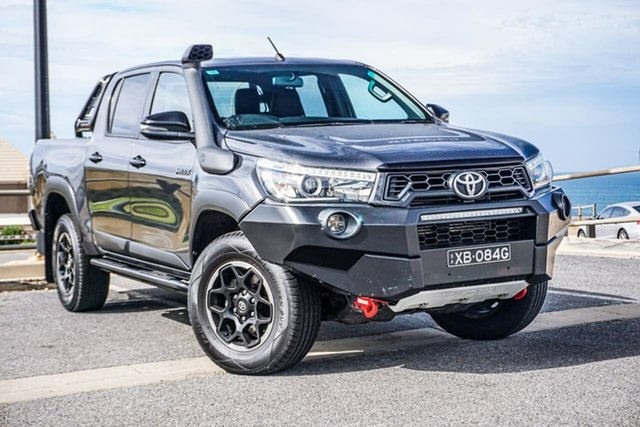 Used Toyota Hilux GUN126R Rugged X Double Cab Christies Beach, 2018 Toyota Hilux GUN126R Rugged X Double Cab Grey 6 Speed Sports Automatic Utility