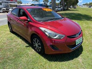2011 Hyundai Elantra HD MY10 SX Red 4 Speed Automatic Sedan.