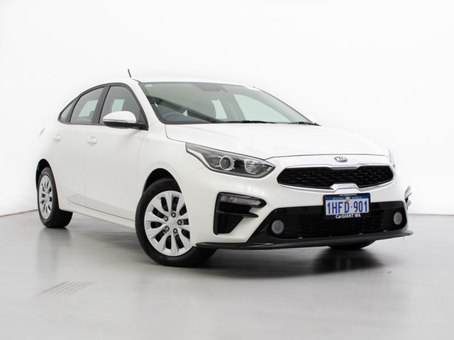 Used Kia Cerato BD MY20 S, 2019 Kia Cerato BD MY20 S White 6 Speed Automatic Hatchback