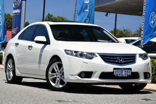 2012 Honda Accord Euro CU MY12 Luxury Navi White 5 Speed Automatic Sedan.