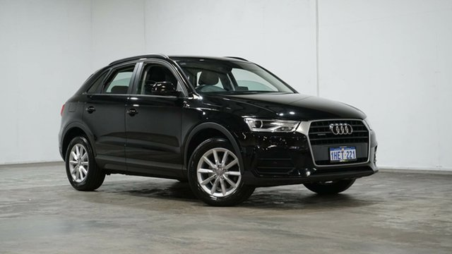 Used Audi Q3 8U MY17 TDI S Tronic Quattro Welshpool, 2017 Audi Q3 8U MY17 TDI S Tronic Quattro Black 7 Speed Sports Automatic Dual Clutch Wagon