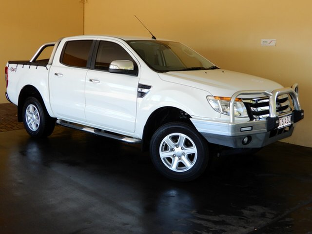 Used Ford Ranger PX XLT 3.2 (4x4) Toowoomba, 2014 Ford Ranger PX XLT 3.2 (4x4) White 6 Speed Automatic Double Cab Pick Up