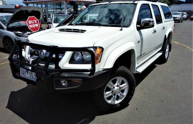 Used Holden Colorado RC MY10 LT-R Crew Cab Seaford, 2010 Holden Colorado RC MY10 LT-R Crew Cab White 4 Speed Automatic Utility