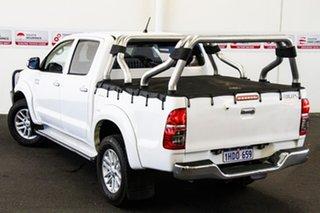 2014 Toyota Hilux KUN26R MY14 SR5 (4x4) Glacier White 5 Speed Manual Dual Cab Pick-up.