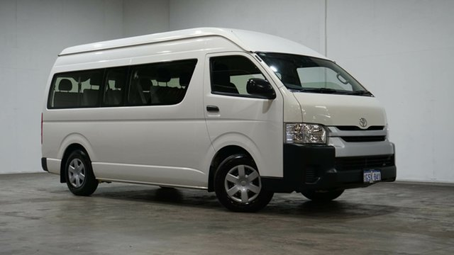 Used Toyota HiAce KDH223R MY14 Commuter High Roof Super LWB Welshpool, 2014 Toyota HiAce KDH223R MY14 Commuter High Roof Super LWB White 4 Speed Automatic Bus