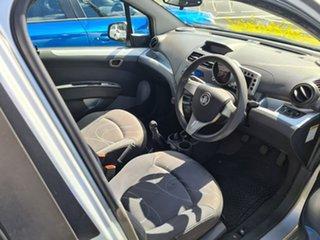 2011 Holden Barina Spark MJ MY11 CD Silver 5 Speed Manual Hatchback