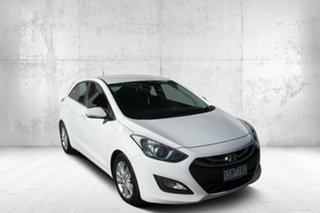 2013 Hyundai i30 GD Elite White 6 Speed Sports Automatic Hatchback.