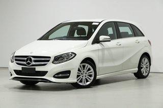 2016 Mercedes-Benz B180 246 MY16 White 7 Speed Auto Direct Shift Hatchback.