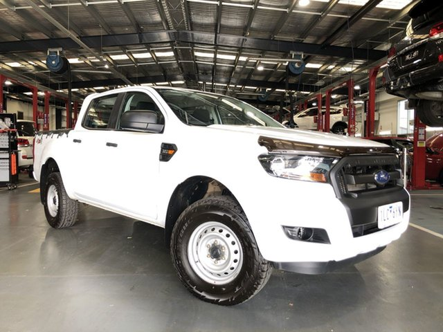 Pre-Owned Ford Ranger PX MkII 2018.00MY XL Oakleigh, 2017 Ford Ranger PX MkII 2018.00MY XL White 6 Speed Manual Utility