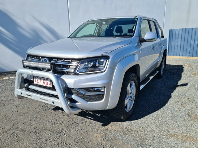 Used Volkswagen Amarok 2H MY17 TDI550 4MOTION Perm Highline North Rockhampton, 2017 Volkswagen Amarok 2H MY17 TDI550 4MOTION Perm Highline Silver 8 Speed Automatic Utility