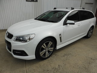 2013 Holden Commodore VF MY14 SV6 Sportwagon White 6 Speed Sports Automatic Wagon.