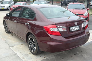 2014 Honda Civic 9th Gen Ser II MY13 VTi Red 5 Speed Sports Automatic Sedan