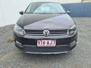 2015 Volkswagen Polo 6R MY15 66TSI DSG Trendline Deep Black Pearl Effect 7 Speed