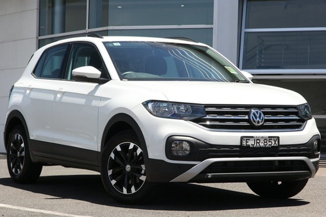 Demo Volkswagen T-Cross C1 MY20 85TSI DSG FWD Life Brookvale, 2020 Volkswagen T-Cross C1 MY20 85TSI DSG FWD Life Pure White 7 Speed Sports Automatic Dual Clutch