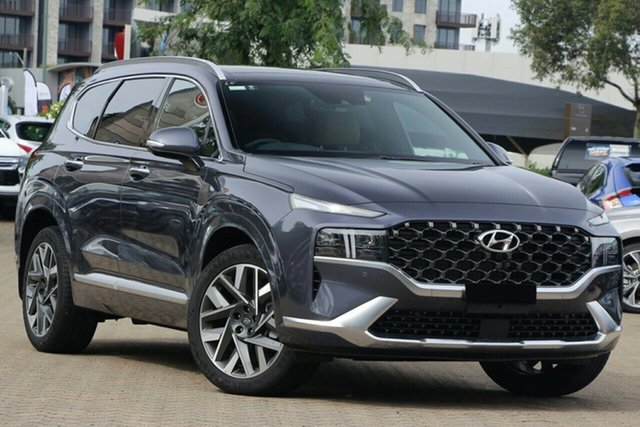 New Hyundai Santa Fe Tm.v3 MY21 Highlander DCT Ingle Farm, 2020 Hyundai Santa Fe Tm.v3 MY21 Highlander DCT Lagoon Blue 8 Speed Sports Automatic Dual Clutch