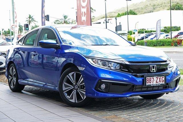 Demo Honda Civic 10th Gen MY20 VTi-L Mount Gravatt, 2020 Honda Civic 10th Gen MY20 VTi-L Blue 1 Speed Constant Variable Sedan