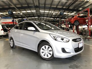 2016 Hyundai Accent RB3 MY16 Active Silver 6 Speed Constant Variable Sedan.