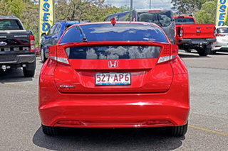 2013 Honda Civic 9th Gen MY13 VTi-L Red 5 Speed Sports Automatic Hatchback