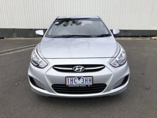 2016 Hyundai Accent RB3 MY16 Active Silver 6 Speed Constant Variable Sedan