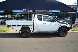 2013 Mitsubishi Triton MN MY13 GLX (4x4) White 5 Speed Manual Club Cab Utility.