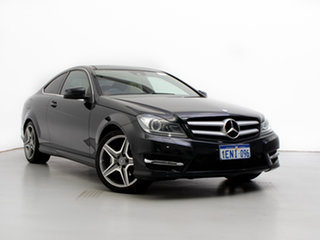 2014 Mercedes-Benz C250 W204 MY14 CDI Black 7 Speed Automatic G-Tronic Coupe.