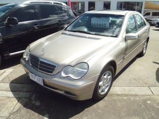 2002 Mercedes-Benz C-Class W203 C200 Kompressor Classic Gold 5 Speed Sports Automatic Sedan