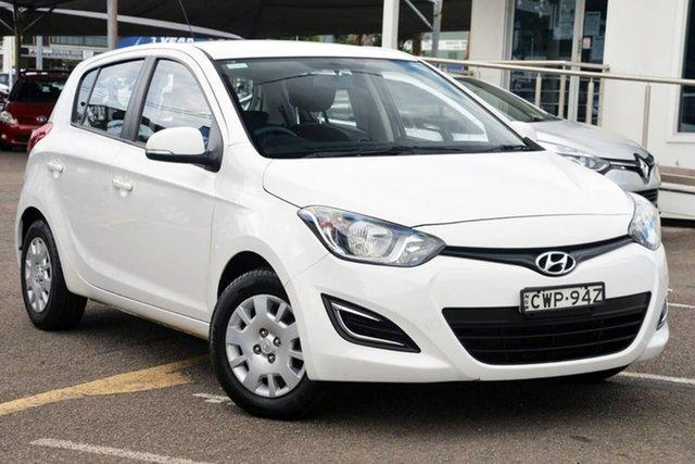 Used Hyundai i20 PB MY14 Active North Gosford, 2014 Hyundai i20 PB MY14 Active White 6 Speed Manual Hatchback